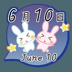 6月10日記念日うさぎ