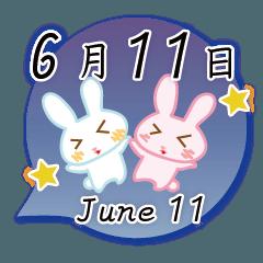 6月11日記念日うさぎ