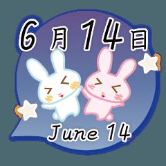 6月14日記念日うさぎ