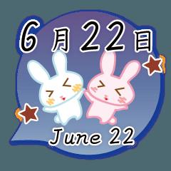 6月22日記念日うさぎ