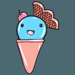 かわいいアイスクリームステッカーセット