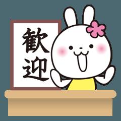 記者発表です3♥️花うさちゃん