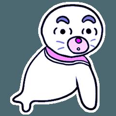 [LINEスタンプ] ちょっと妙なアザラシと住人たち (1)