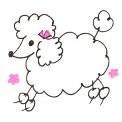 Toy poodle stamps (Rum)