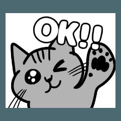 猫のジョン&うめイラストスタンプ