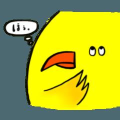 黄色いおとぼけ鳥