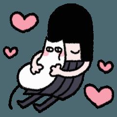モチモチ猫と少女