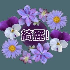 花のリーススタンプ