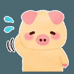[LINEスタンプ] なごみぶた ぶーぶーちゃん