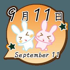 9月11日記念日うさぎ