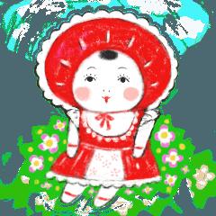 [LINEスタンプ] なかよし文化人形 (1)