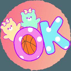 くまゆめかわいい♡バスケットボール応援