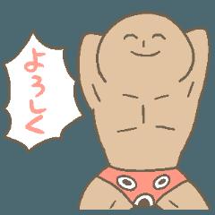 笑顔の覆面パンツレスラー