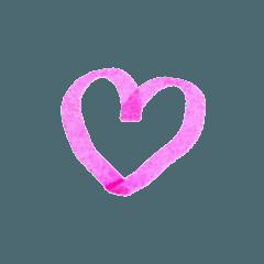 手書きマーカー風❤︎シンプル絵文字