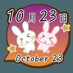10月23日記念日うさぎ