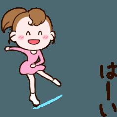 動く!可愛い丸顔フィギュアスケートガール2
