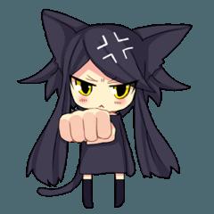 黒い猫耳娘ちゃん