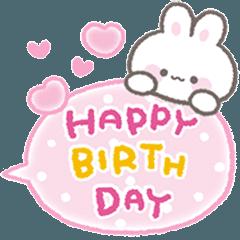 【動く】ひょっこりうさぎ★誕生日&お祝い