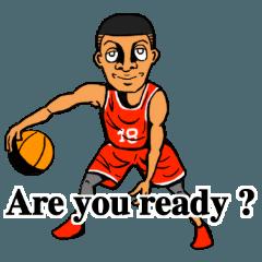 バスケットボール スタンプ (English)