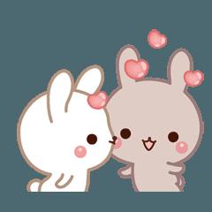 もっとラブラブ動く☆好きがいっぱいウサギ