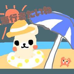 【夏】ごあいさつくまさん10