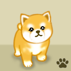 [LINEスタンプ] ちび秋田犬 毎日使うでか文字