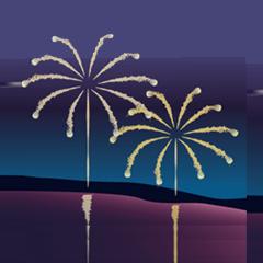 花火-夏の夜空に!