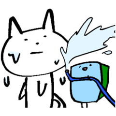 青いスポンジと白いねこ 大人気 第2弾!