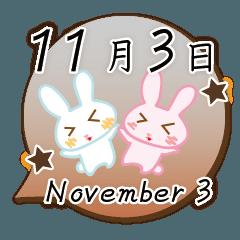 11月3日記念日うさぎ