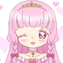 女児プリンセスハート愛のスタンプ