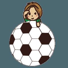 サッカー・フットサル少女