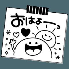 シンプル♡モノクロメモmix