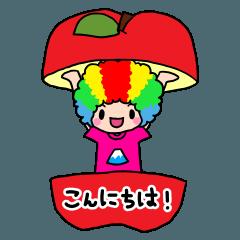 虹色アフロ
