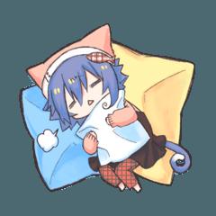 けもみみはねむねむ眠い