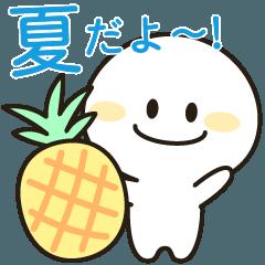 [LINEスタンプ] ましろたん✰毎日使える夏編