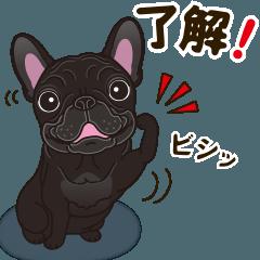 [LINEスタンプ] 気軽にフレンチブルドッグ(ブリンドル) (1)