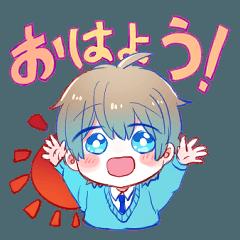 少年(赤と青)