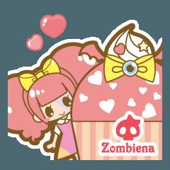 [LINEスタンプ] ゾンビのゾンビーナちゃん☆