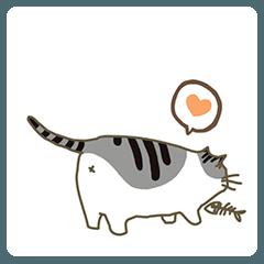 にゃん様 - 後ろの猫