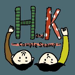 HandKカップルで使えるスタンプ