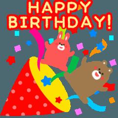 動く!お祝い&誕生日おめでとう☆キラキラ