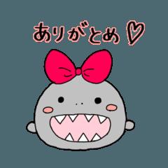 サメちゃんの癒しスタンプ