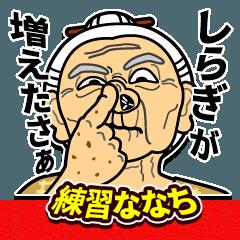 [LINEスタンプ] うちなーあびー【沖縄方言】練習ななち (1)