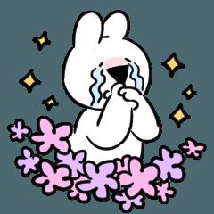 [LINEスタンプ] すこぶる動くウサギ【感情爆発!】