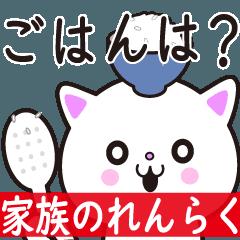 動く!白ネコ♡毎日使える家族の連絡送迎用
