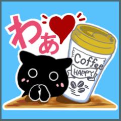 Lサイズの絵と文字でカフェのネコ③