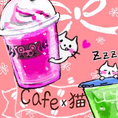 *カフェ風*大人かわいいスタンプ【猫】