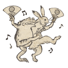 雉◯の鳥獣戯画「おめでとう」セット
