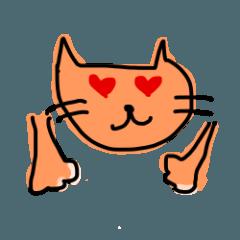 圧倒的な猫ちゃんのスタンプ