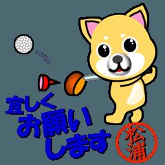 柴犬のゴルフ 松浦(まつうら)さんの印
